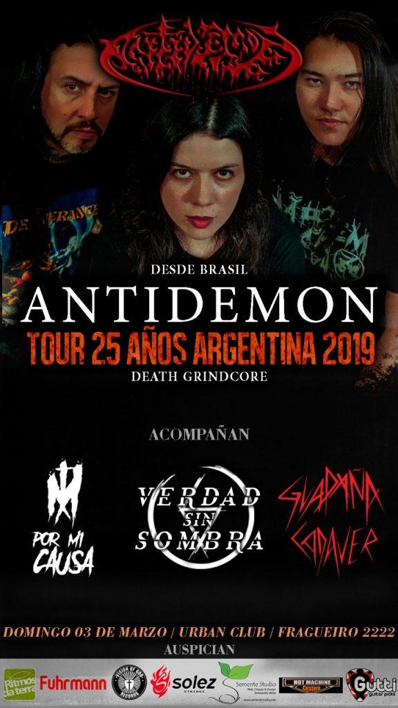 Antidemon en 03/03/2019 en Urban Club, Córdoba, Argentina