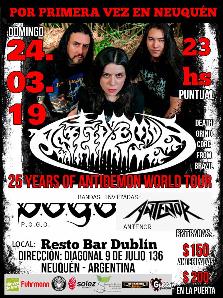 Antidemon en Resto Bar Dublin en 24/03/2019 en Neuquen, Argentina