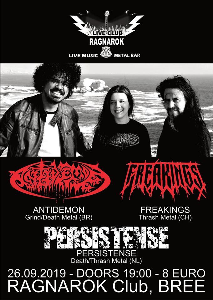 Antidemon BR + Freakings CH @Ragnarok Live Club,B-3960 Bree