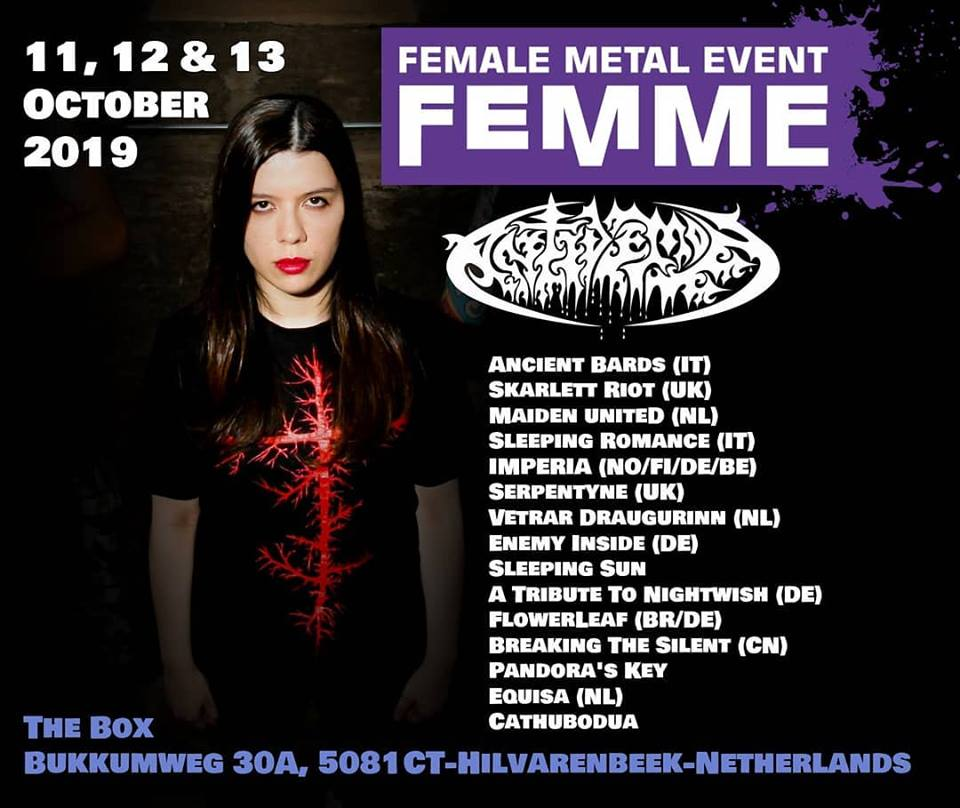 Antidemon in Female Metal Event FemME 2019 will take place in The Box, Hilvarenbeek (NL)